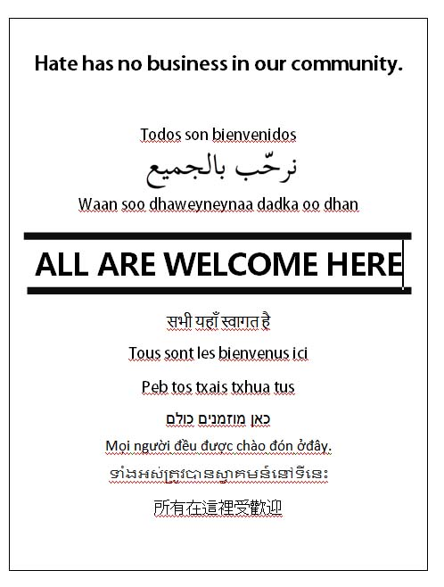 thumbnail of All Are Welcome Here Poster
